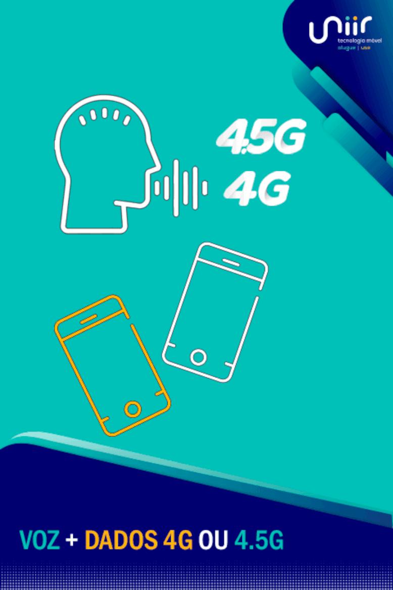 Voz + dados + 4G ou 4.5G